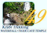 Krabi Trekking Waterfall and Tiger cave temple
