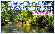 Bamboo Raft ATV Elephant and Pungchang Cave