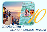 Snorkeling with Sunset Cruise Dinner