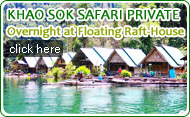 Khaosok Safari Private Overnight at Floating Raft House