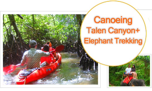 Best Place for Canoeing of Southern, Thalen Canyon, Elephant Trekking